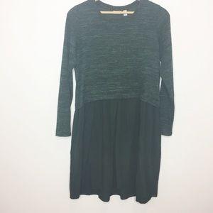 LOGO by Lori Goldstein faux layer sweater dress